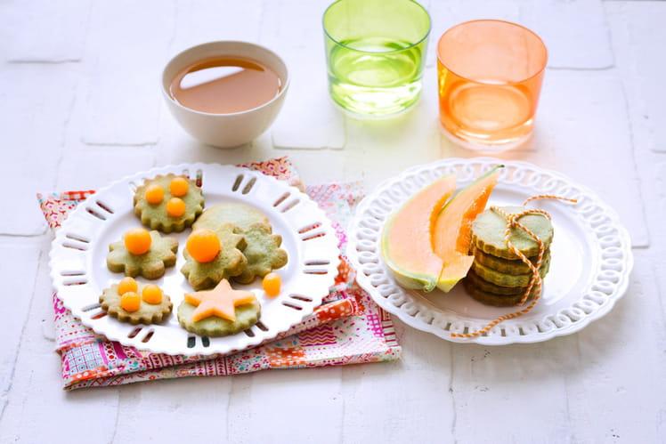 Petits sablés au thé vert et au Melon de nos Régions