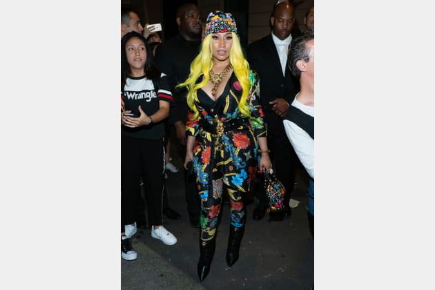 Nicki Minaj au dîner Versace