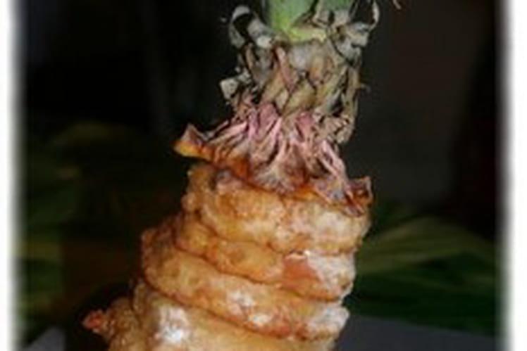 Beignets d'ananas au gingembre