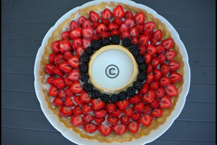 Tarte à la fraise et aux mûres
