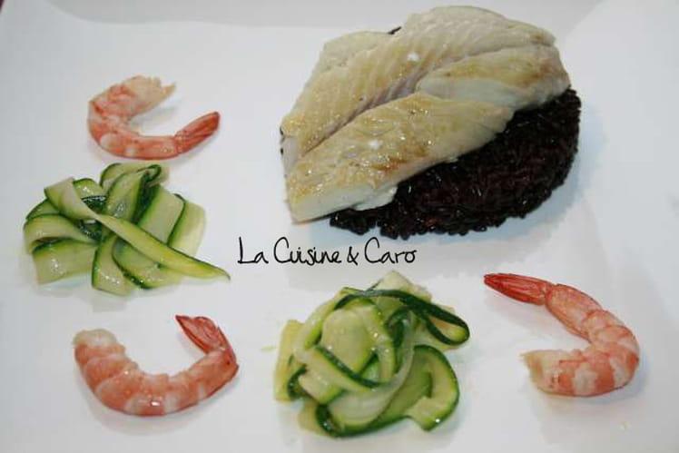 Filet de lieu noir sur riz imp rial tagliatelles - Cuisiner filet de lieu noir ...