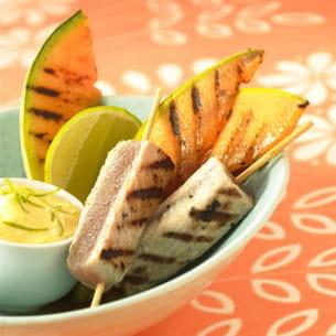 melon philibon et thon grillé à la plancha