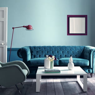 peinture acrylique mate, coloris brighton marine blue de little greene