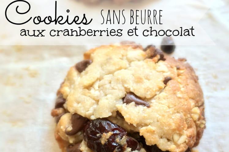 Cookies sans beurre aux cranberries et chocolat