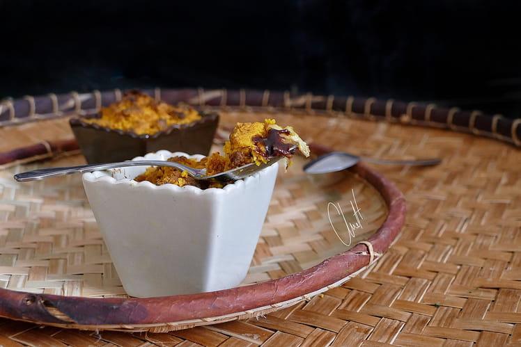 Crumble chocolat banane et curcuma
