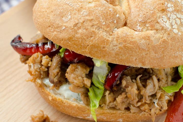 Sandwich Pistolet à l'agneau et raïta
