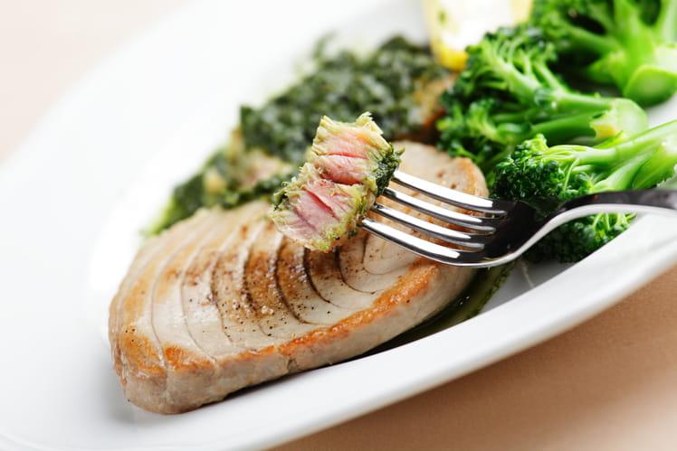 Thon à la coriandre et broccolini