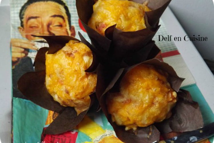 Muffins jambon-chèvre
