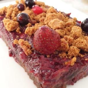 tartelettes aux fruits rouges et bastogne