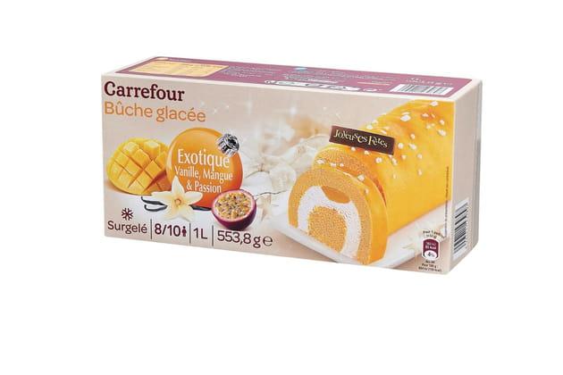 Bûche exotique glacée Carrefour