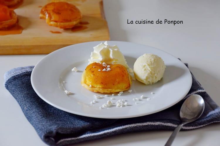 Mini tatin de pomme au caramel et sirop de gingembre