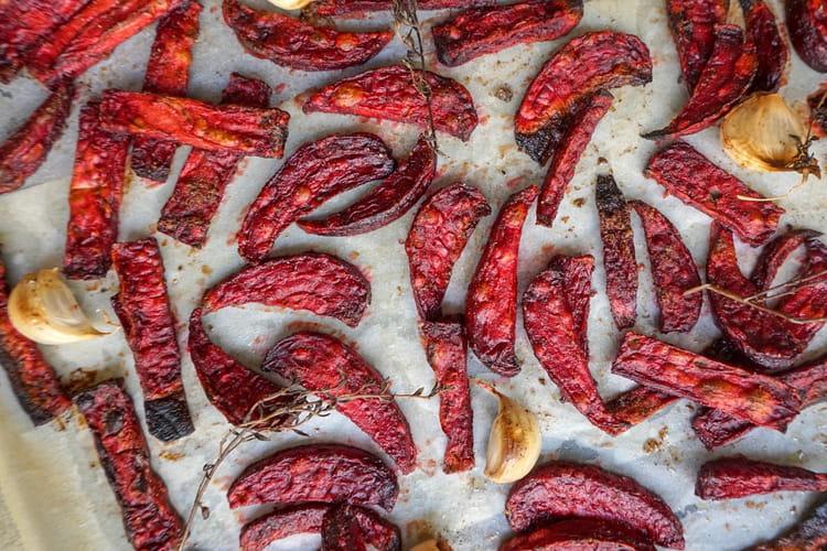 Frites de betteraves rôties aux épices