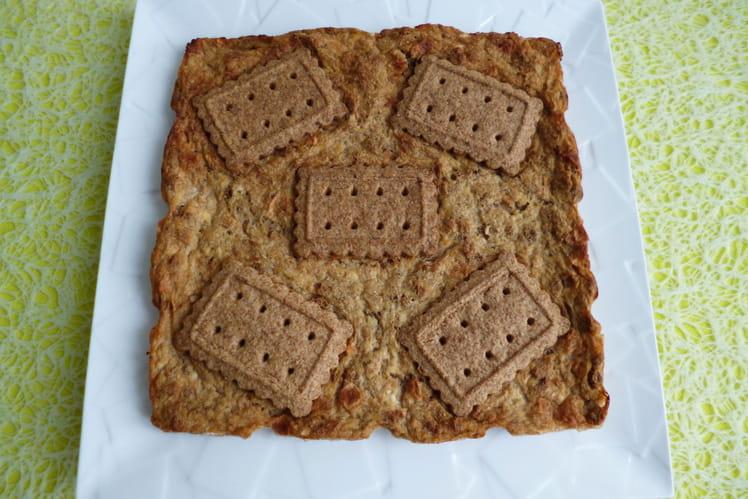 Tofucake aux céréales, aux biscuits bambou et aux pommes