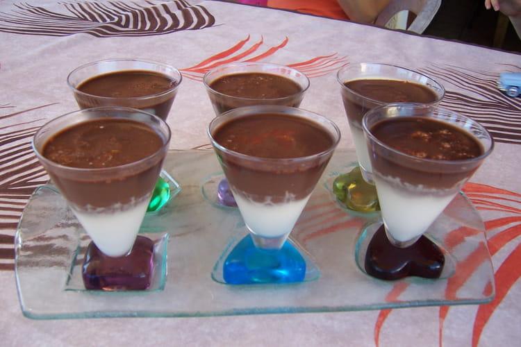 Panna cotta vanille-chocolat