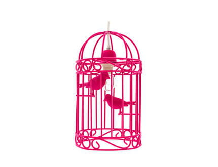 une cage oiseaux en guise de luminaire. Black Bedroom Furniture Sets. Home Design Ideas