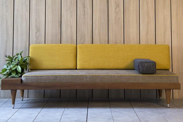 Canapé jaune Kann Design