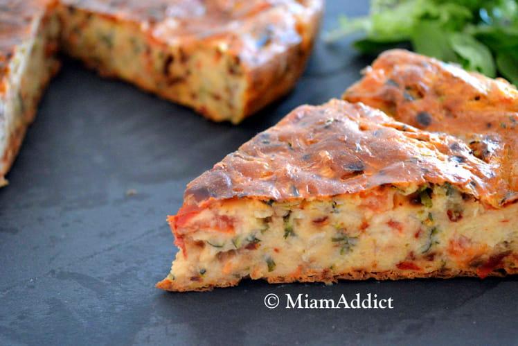 Cake fondant tomates courgette et chèvre