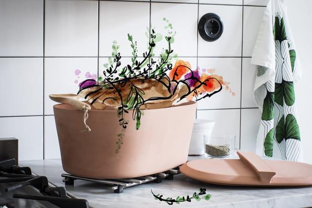 Cocotte en argile Användbar d'IKEA