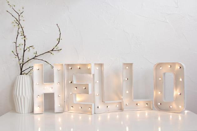 hello diy lettres lumineuses