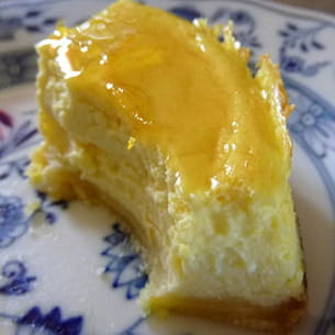 cheesecake à la bergamote de tunisie (limette)