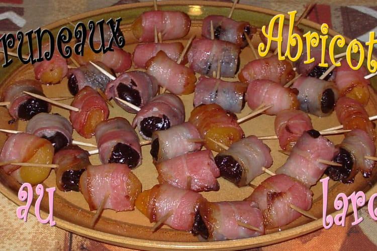 Pruneaux et abricots au lard