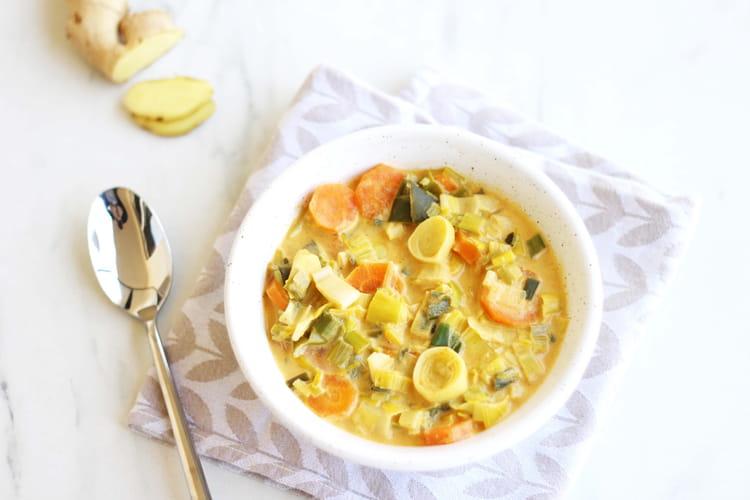 Curry de poireaux et de carottes