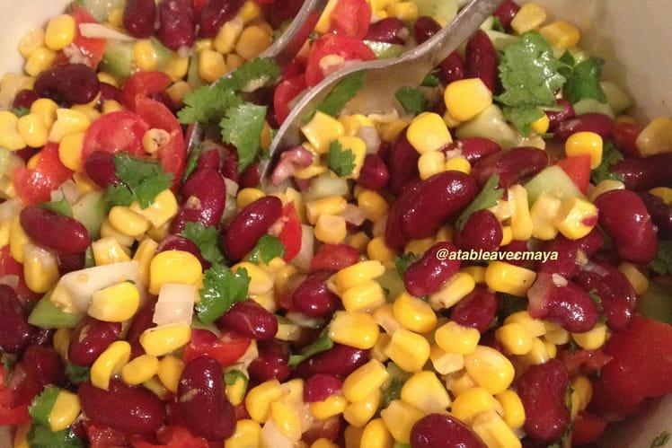 Recette de salade de ma s et haricots rouges la mexicaine la recette facile - Cuisiner des betteraves rouges ...