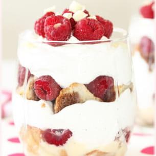 trifle framboise et chantilly au yaourt