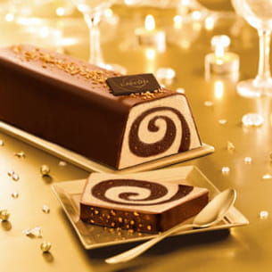 bûche spirale chocolat praliné de lanvin