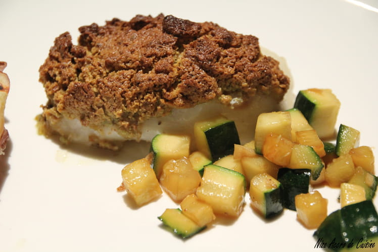 Cabillaud en crumble de pistaches