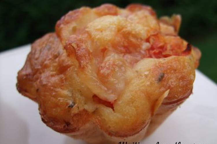 Muffins aux deux tomates et au poulet invisible