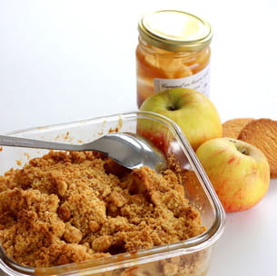 crumble pomme caramel express