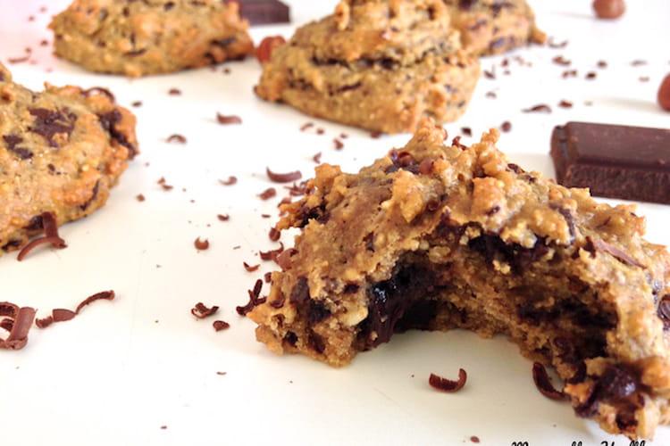 Biscuits sans beurre, aux noisettes et pépites de chocolat