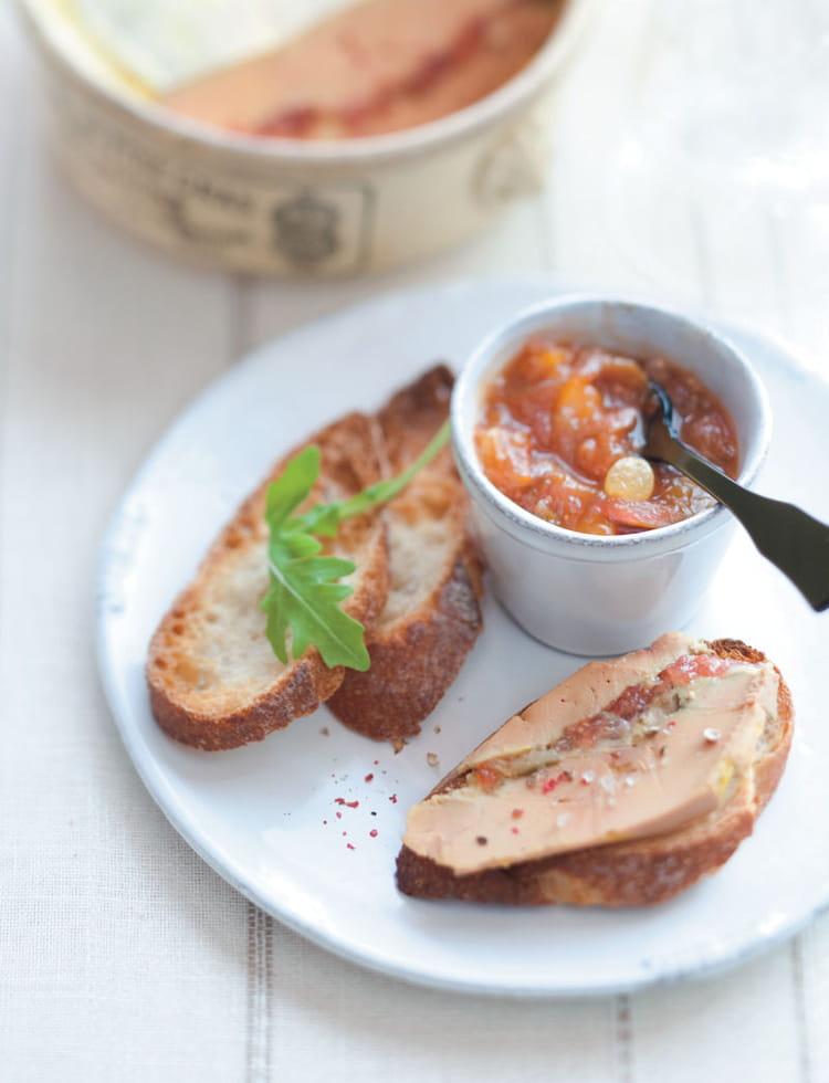 recette de terrine de foie gras aux figues et son chutney. Black Bedroom Furniture Sets. Home Design Ideas