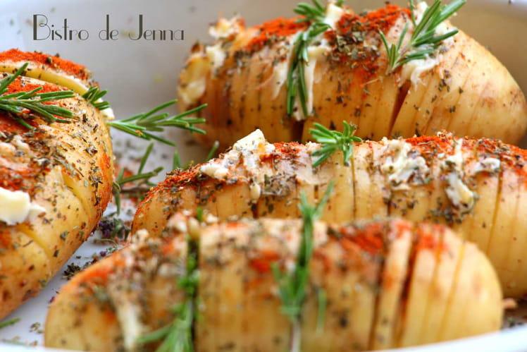 Hasselback Potatoes de Provence