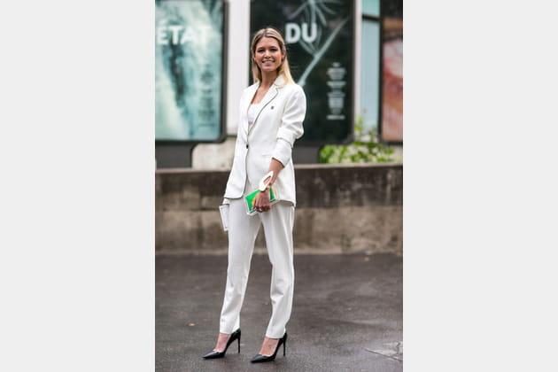 Street looks fashion week haute couture : working girl