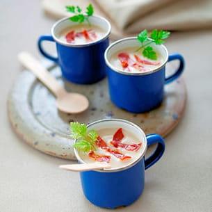 velouté de chou-fleur au chorizo