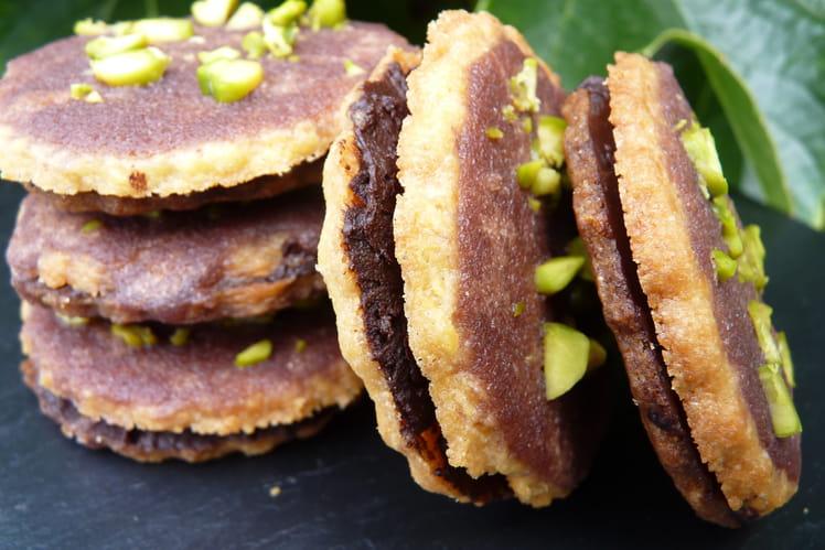 Petits biscuits chocolat et son glaçage au bailey