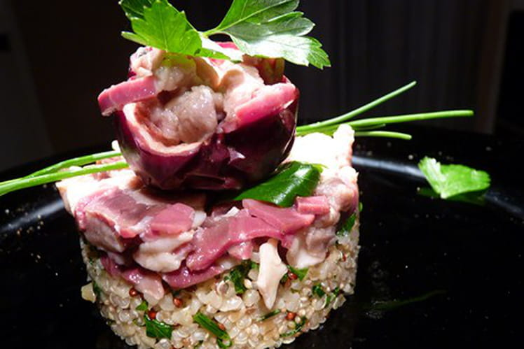 Tartare de magret de canard et son quinoa