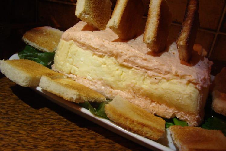 Parfait de fromage Langres à la mousse de saumon fumé