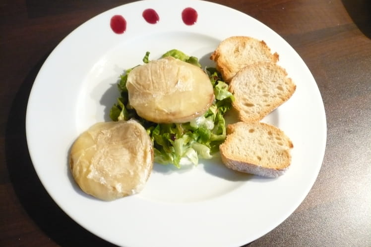 Salade de chèvre chaud aux pommes