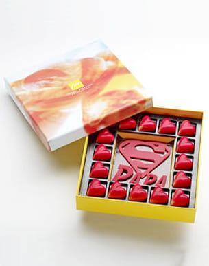 boîte de chocolat 'superbe papa' de thierry mulhaupt