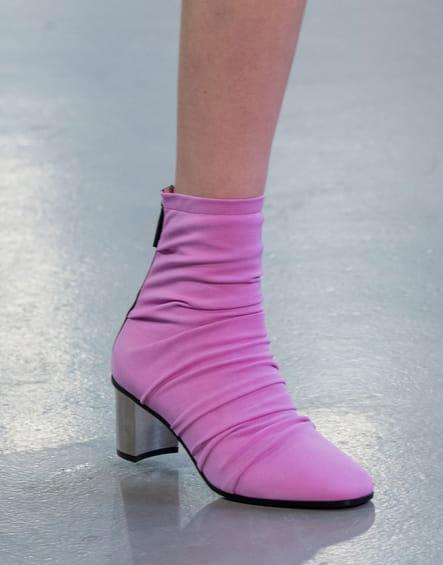 Les bottines du défilé Emilio Pucci