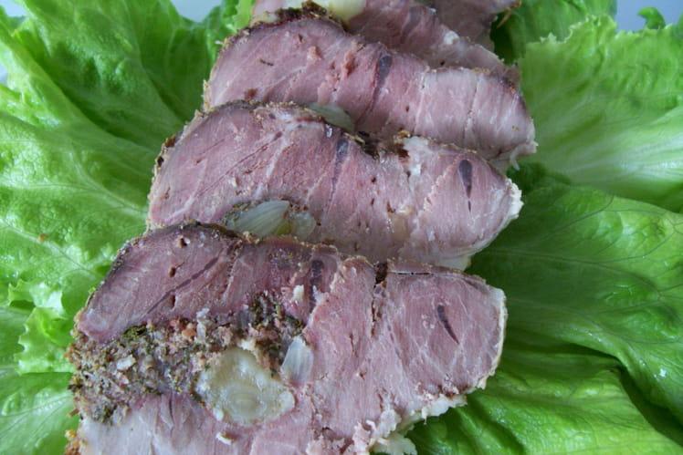 Rôti de porc à l'ail et aux herbes