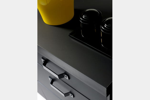Mobilier cuisine noir mat