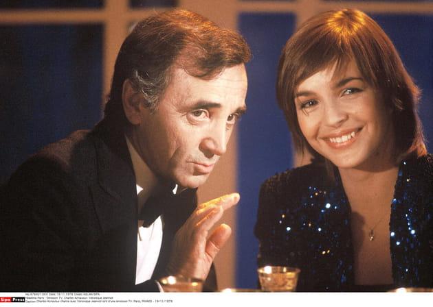 Avec Veronique Jeannot en 1979
