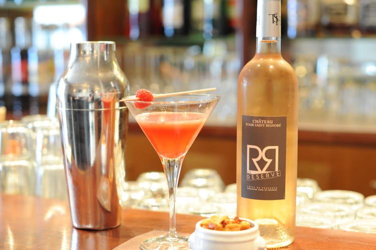 Cocktail au rosé New-York Sour