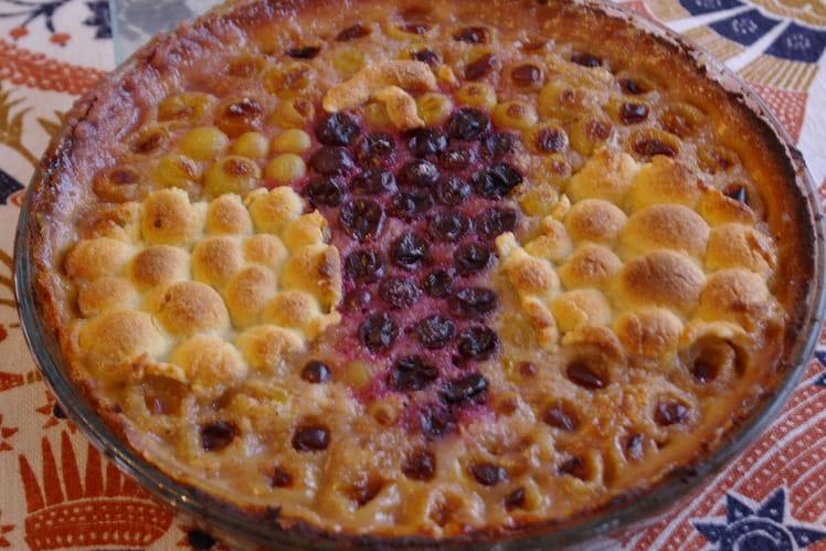 Tarte aux raisins à la crème d'amandes