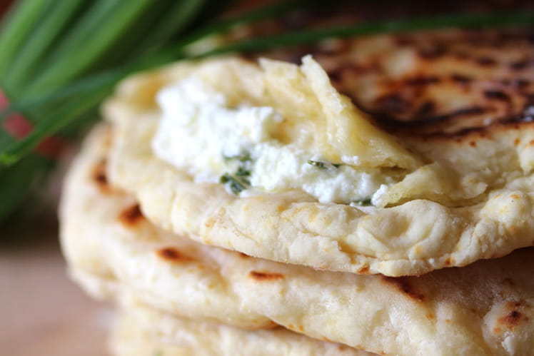 Pain naans aux fromages