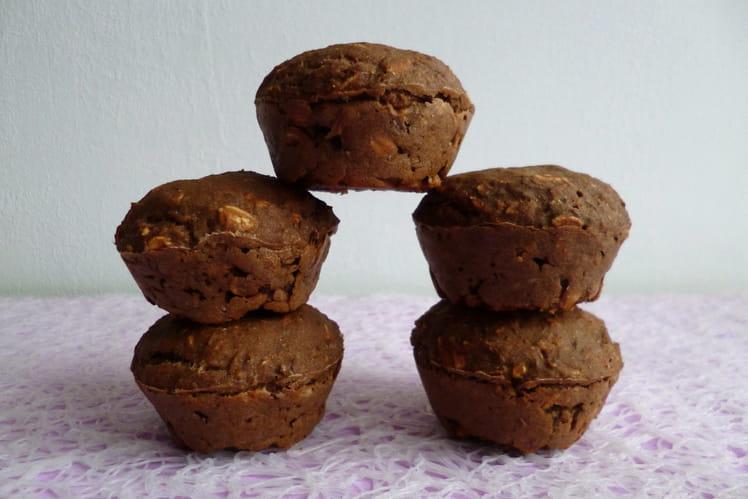 Muffins hyperprotéinés cacao café aux 5 céréales avec chia, lin et psyllium